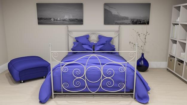 Wnętrze sypialni 3d