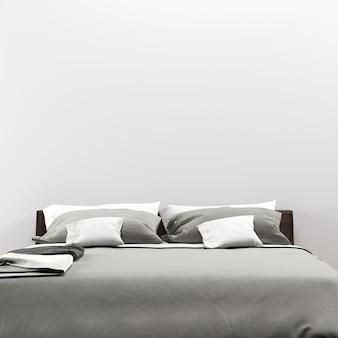 Wnętrze sypialni galeria ścienna makieta