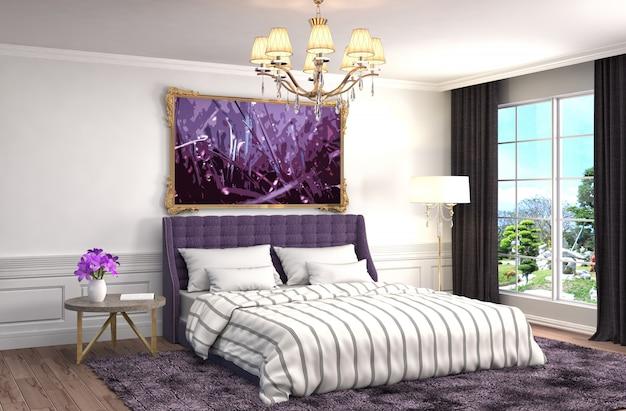 Wnętrze sypialni świadczonych ilustracji