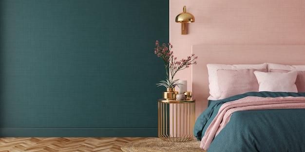 Wnętrze sypialni w stylu art deco