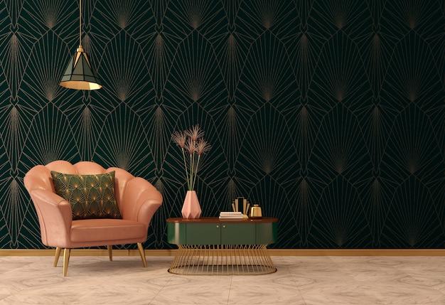 Wnętrze w stylu art deco w stylu klasycznym
