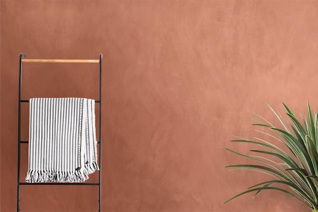 Wnętrze wirtualnego tła z powiększeniem ściany w stylu śródziemnomorskim