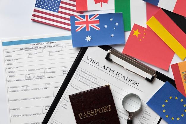 Wniosek o wizę dla różnych krajów