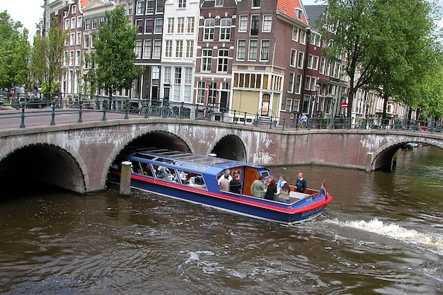 Woda amsterdam holandia kanał kanał holland
