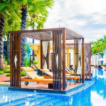 Woda krajobraz piękny basen hotelu