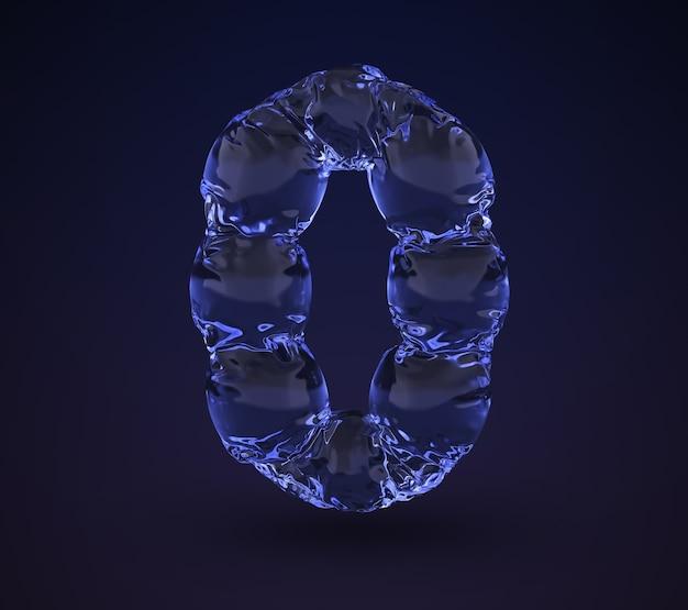 Woda Neonowa Numer 0. Premium Zdjęcia