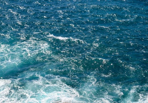 Woda oceanu z falami
