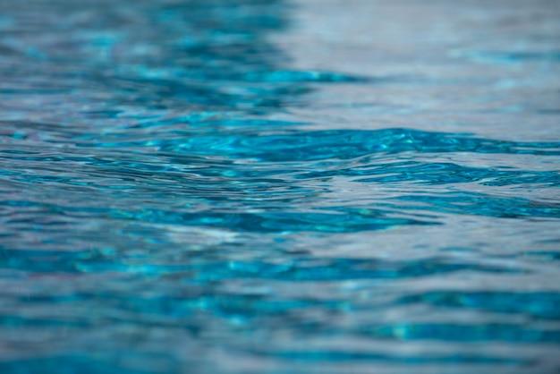 Woda w basenie, tło o wysokiej rozdzielczości. fala streszczenie lub pomarszczonej wody tekstury.