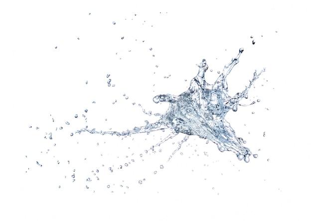 Wodny pluśnięcie odizolowywający na białym tle
