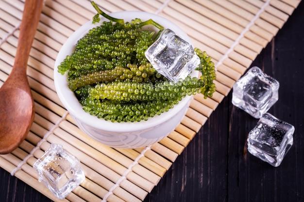 Wodorosty morskie (zielony kawior)