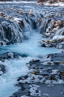 Wodospad bruarfoss, islandia