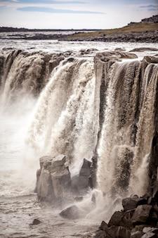 Wodospad dettifoss na islandii