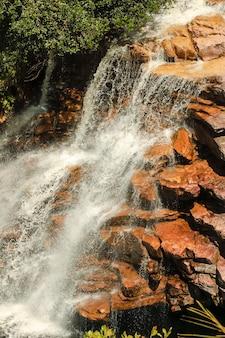 Wodospad devils park narodowy chapada diamantina stan bahia brazylia