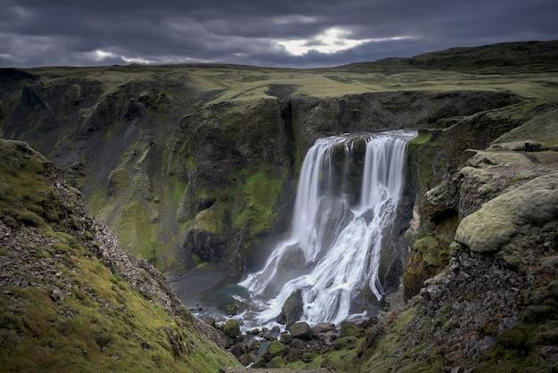 Wodospad fagrifoss na islandii