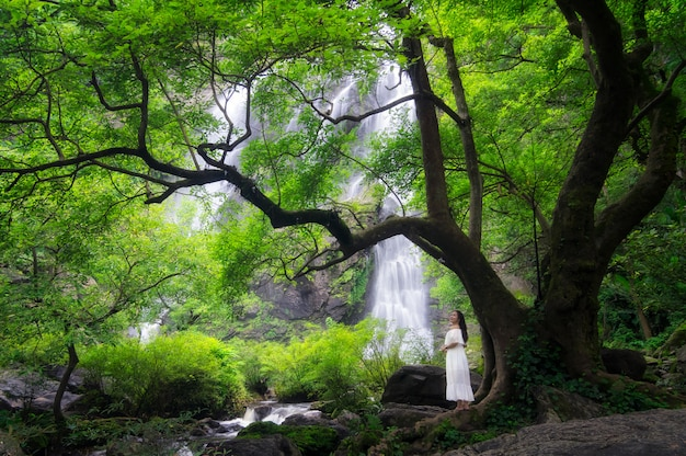Wodospad khlong lan.