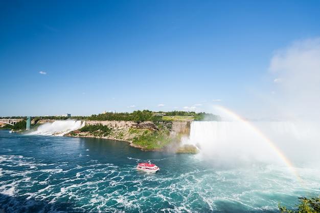 Wodospad niagara w lecie