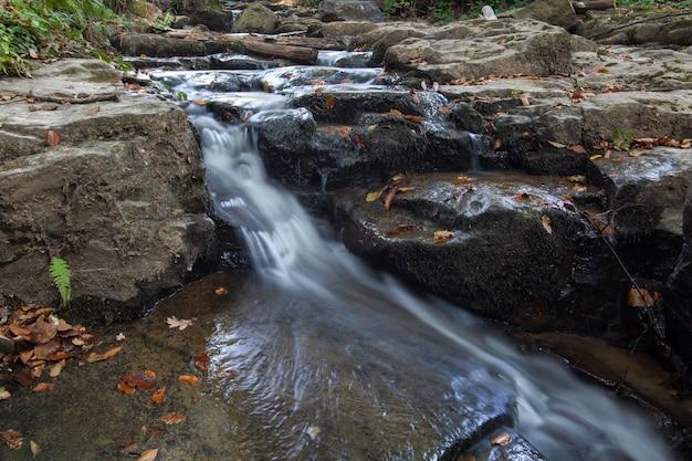 Wodospad skakalo w karpatach, zakarpacie, ukraina