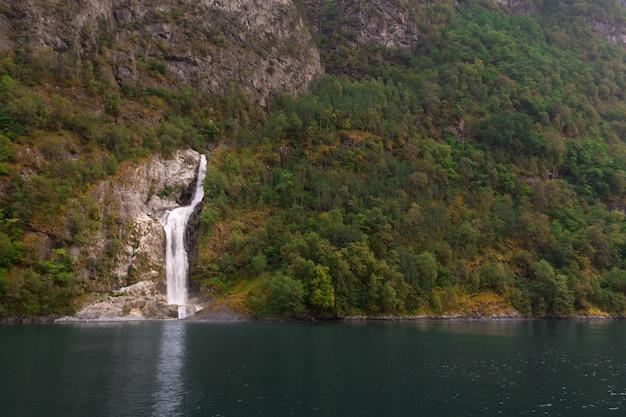 Wodospady w norwegii.