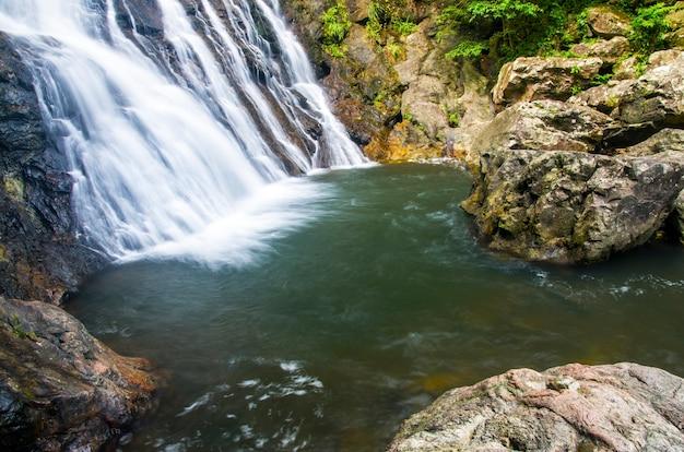 Wodospady w środku doliny.