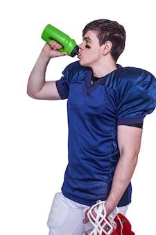 Wody pitnej gracza futbolu amerykańskiego