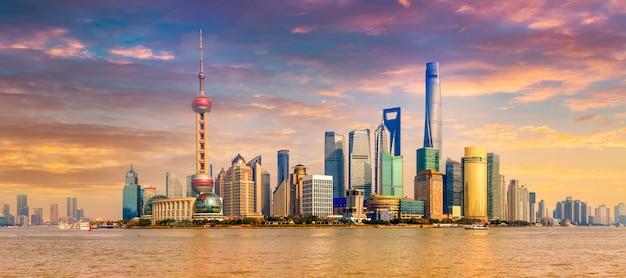 Wody słynnej architektury finansów shanghai wieży