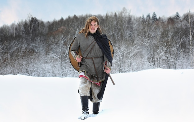 Wojownik oddziału na ochronę porządku w wyposażeniu ludów północnych