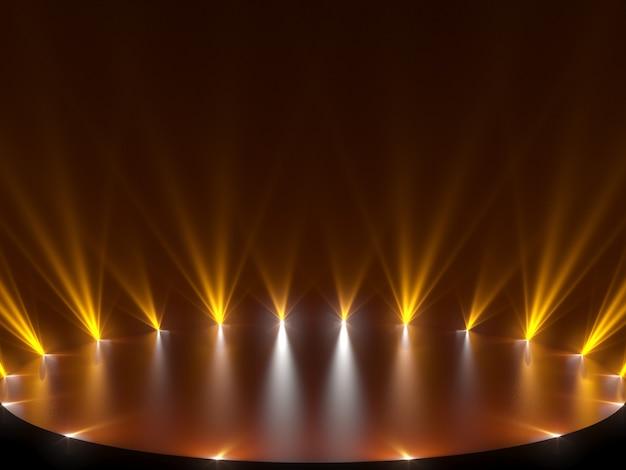 Wolna scena ze światłami