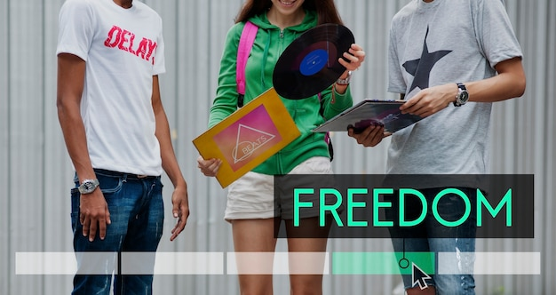 Wolność radość dobra niezależność w vibes