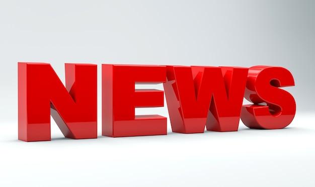 Word news kolor czerwony