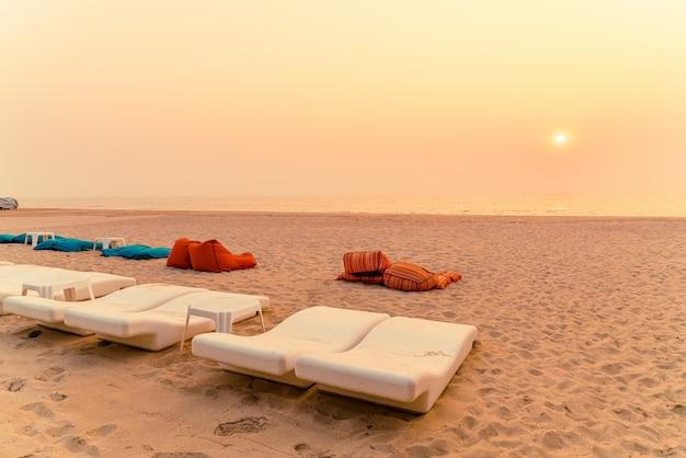 Worek fasoli plażowej z morskim oceanem