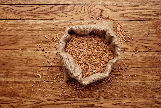 Worek na ziarno składnik kuchenny zdrowie gotowanie