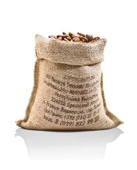 Worek z ziarnami kawy
