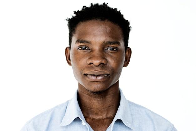 Worldface-ugandyjski mężczyzna w białym tle