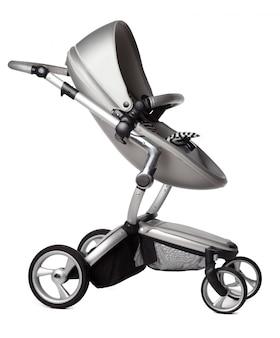 Wózek dla dzieci na białym tle