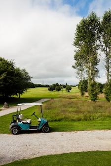Wózek golfowy na polu golfowym