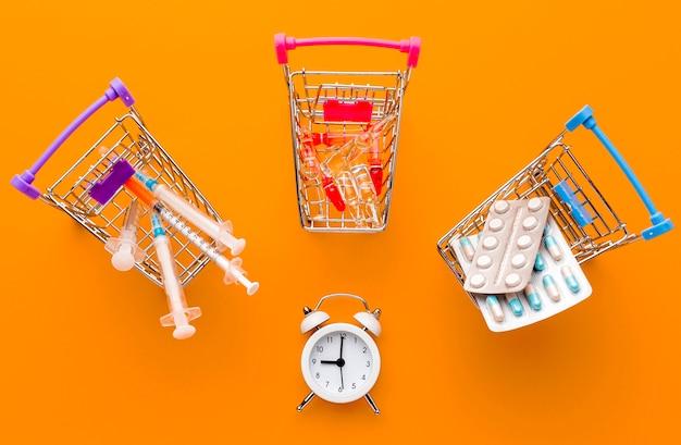 Wózek na zabawki z kolekcji tabletek