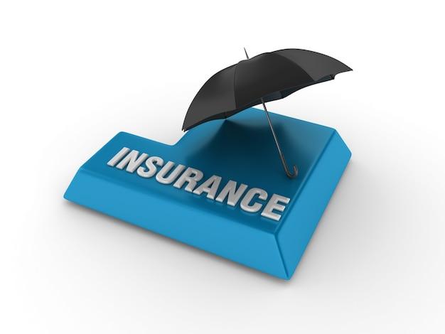 Wprowadź klucz z parasolem i słowem ubezpieczeniowym