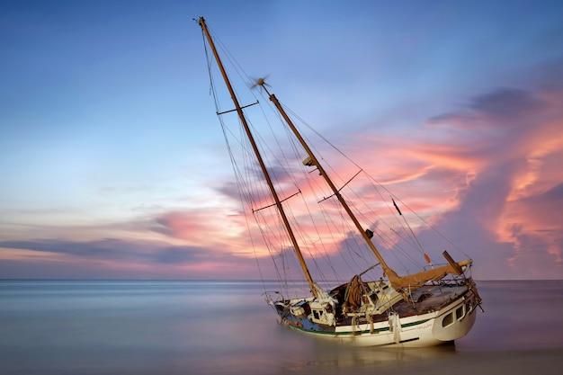 Wrak łodzi