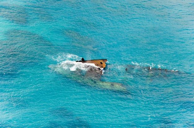 Wrak statku na morzu karaibskim
