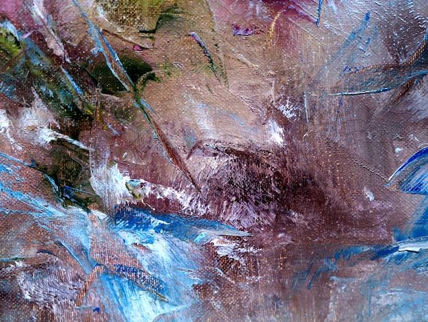 Wręcza remisowi kolorowego obrazu olejnego wielo- kolory abstrakcjonistycznego tło i teksturę.