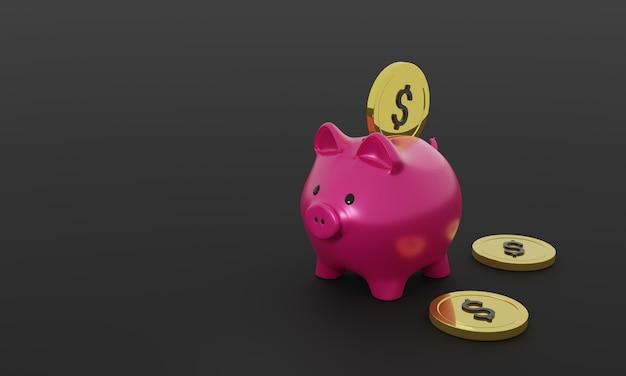 Wrzucenie monety do skarbonki