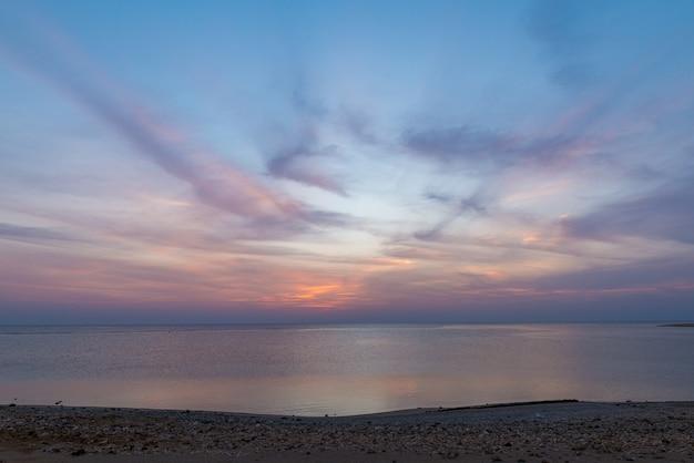 Wschód słońca nad morzem czerwonym