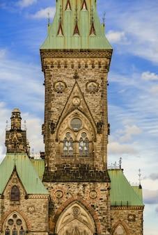 Wschodni blok parlamentu wzgórze w ottawa, kanada