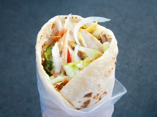 Wschodnia tradycyjna shawarma