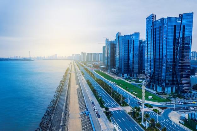 Wschodnie wybrzeże, dystrykt xincheng, miasto shantou, prowincja guangdong, chiny