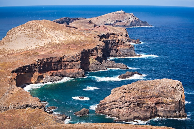 Wschodnie wybrzeże wyspy madera, portugalia
