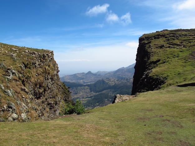 Wschodnioafrykańska dolina szczelinowa w etiopii