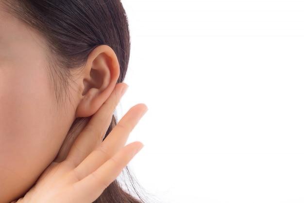 Wścibska ciekawość młodych interesujące ucha