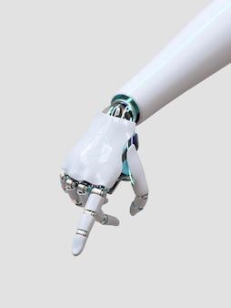 Wskazywanie palcem dłoni robota, technologia ai