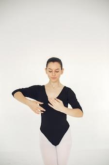 Wspaniała tancerka baletowa. baleriny w pointe.